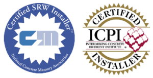 ICPI certified installer and certified SRW installer